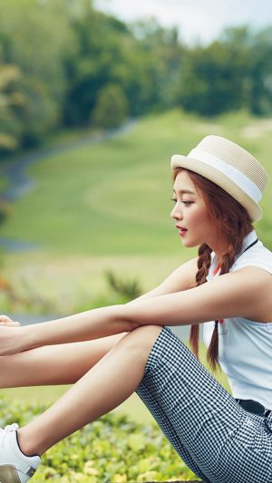 Kpop Golf Model Girl Jo Boa iPhone 8 wallpaper