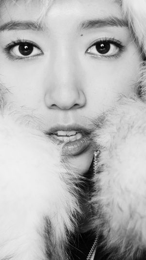Kpop Park Shin Hye Actress Beauty Cute Bw iPhone 8 wallpaper