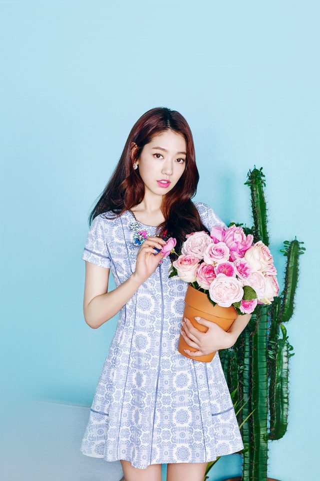 Kpop Park Shinhye Flower Photoshoot Girl iPhone wallpaper