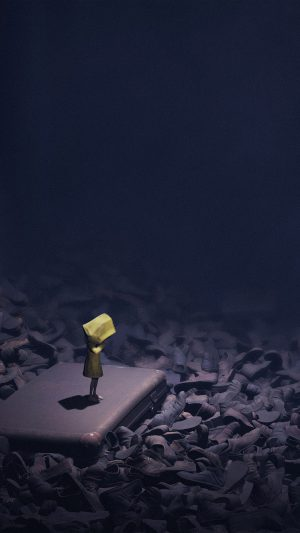 Little Nightmares Dark Anime Art Illustration iPhone 8 wallpaper