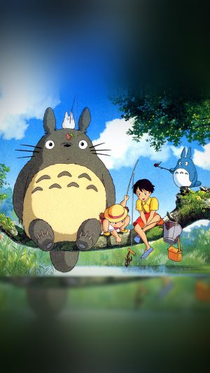 My Neighbor Totoro Anime Art Illustration iPhone 8 wallpaper