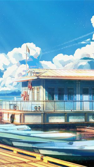 Sea Illustration Art Anime Painting Arseniy Chebynkin iPhone 8 wallpaper