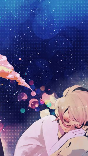 Sleeping Girl Anime Art Illustration iPhone 8 wallpaper
