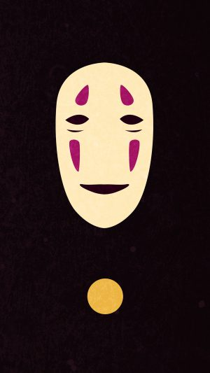 Spirited Away Dark Ghost Anime iPhone 8 wallpaper