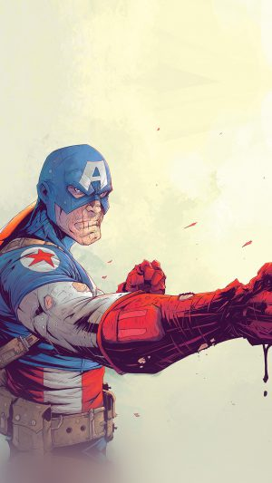 Toronto Revolver Illustration Art Anime Hero Captain America iPhone 8 wallpaper