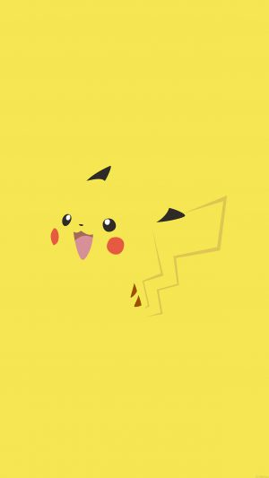 Wallpaper Pikachu Yellow Anime iPhone 8 wallpaper