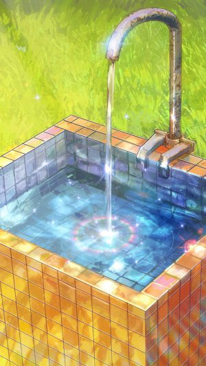 Water Anime Paint Color Illustration Art Arseniy Chebynkin iPhone 8 wallpaper