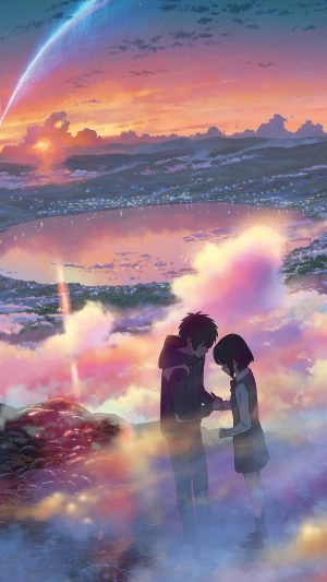Yourname Anime Filme Illustration Art iPhone 8 wallpaper