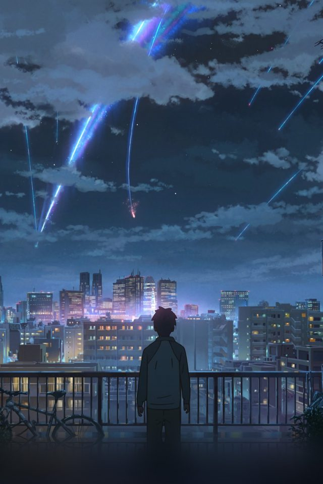 Yourname Night Anime Sky Illustration Art iPhone wallpaper