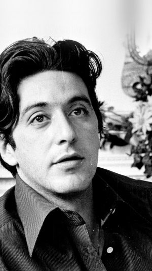 Al Pacino Young Boy Face Film Art iPhone 8 wallpaper