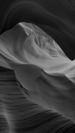 Antelope Canyon Bw Black Mountain Rock Nature iPhone 8 wallpaper