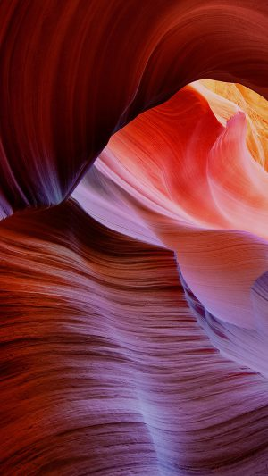 Antelope Canyon Mountain Rock Nature iPhone 8 wallpaper