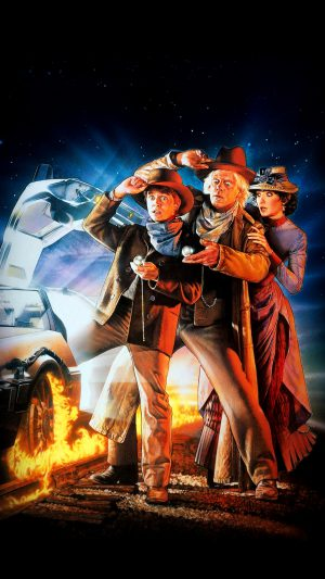 Back To The Future 3 Poster Film Art iPhone 8 wallpaper
