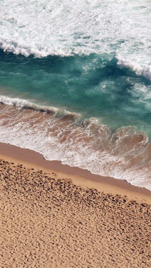 Beach Wave Coast Nature Sea Water Summer iPhone 8 wallpaper