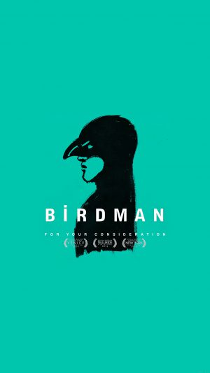 Birdman Poster Green Film iPhone 8 wallpaper