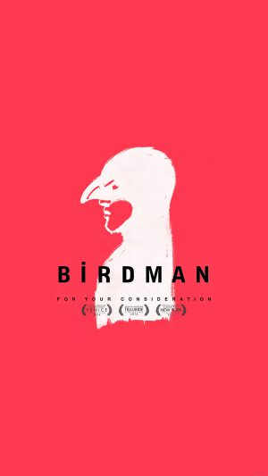 Birdman Poster Red Film iPhone 8 wallpaper