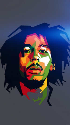 Bob Marley Blue Art Illust Music Reggae Celebrity iPhone 8 wallpaper