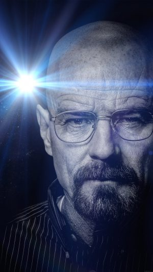 Breaking Bad Face Flare Film Art Dark iPhone 8 wallpaper
