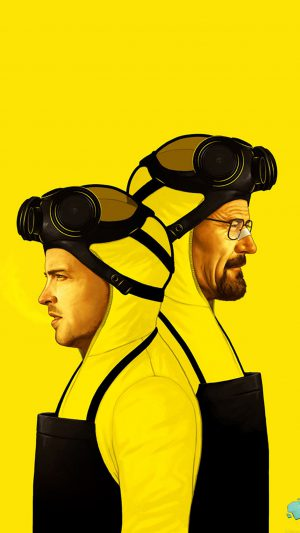 Breaking Bad Yellow Film Art iPhone 8 wallpaper