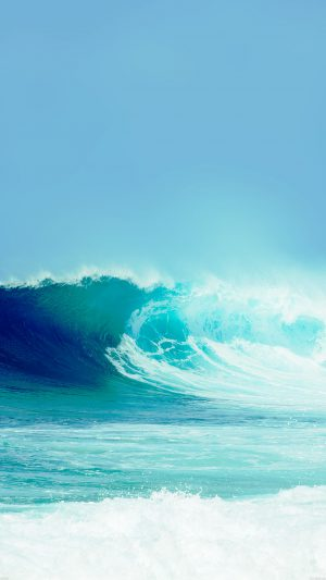 Breaking Good Wave Light Ocean Sea Day Nature iPhone 8 wallpaper