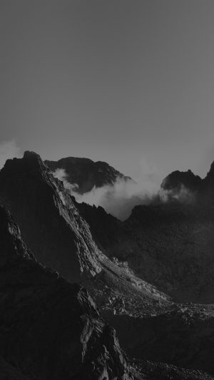 Breath Taking Mountains Bw Sky High Nature iPhone 8 wallpaper