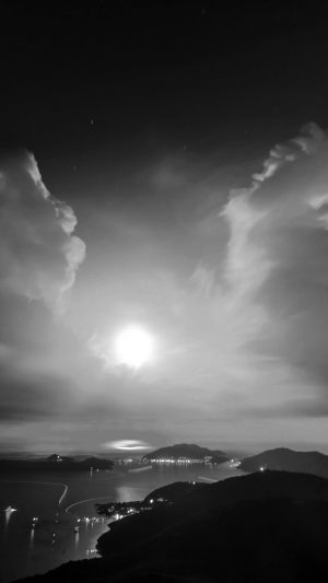 British Night Sunset Lake Sea Mountain Nature Bw Dark iPhone 8 wallpaper