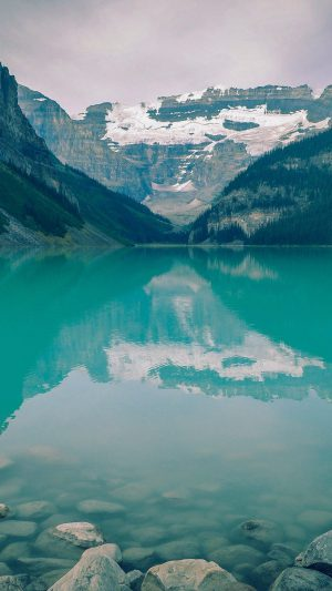 Canada Lake Blue Louise Green Water Nature iPhone 8 wallpaper