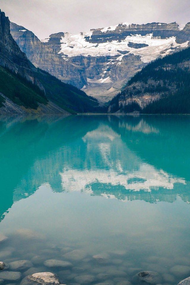 Canada Lake Louise Green Water Nature Iphone 8 Wallpaper