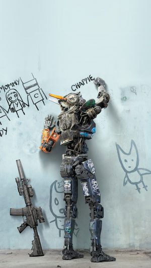 Chappie Robot Art Film Poster iPhone 8 wallpaper