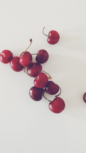 Cherry Red Paula Borowska Fruit Nature iPhone 8 wallpaper
