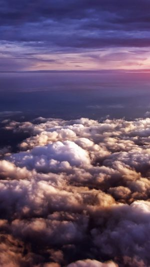 Cloud Flare Sky View Nature iPhone 8 wallpaper