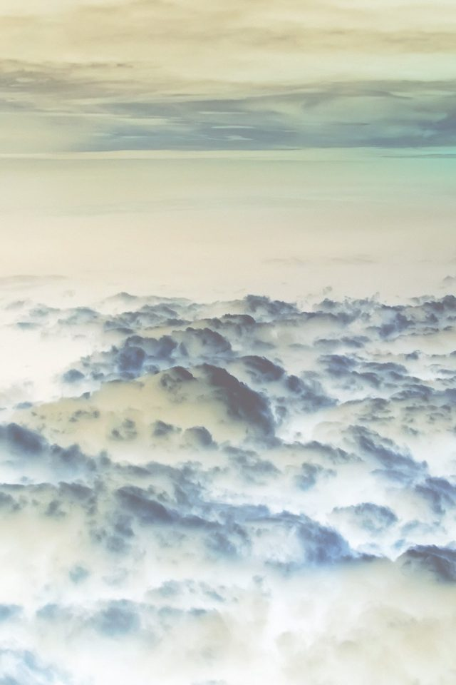 Cloud Flare Sky View Nature White Blue iPhone wallpaper