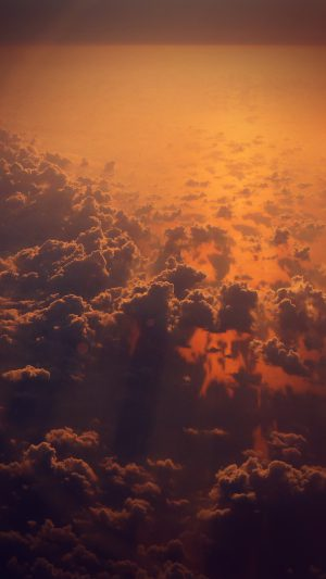 Cloud Nine Sky Fly Sunset Red Nature Flare iPhone 8 wallpaper