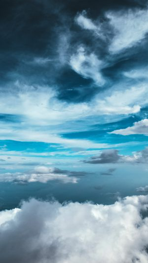 Cloud Sky Nature Blue iPhone 8 wallpaper