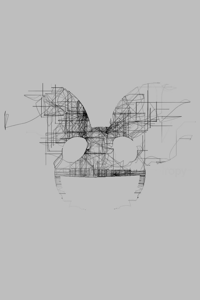 Deadmau5 White Logo Art Music iPhone wallpaper