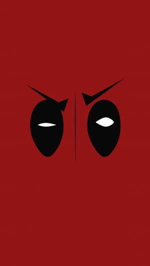 Deadpool Hero Eye Logo Art Film iPhone 8 wallpaper