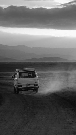 Desert Car Dark Bw Drive Nature Love iPhone 8 wallpaper
