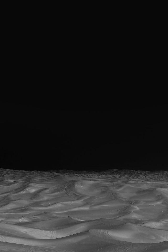 Desert Minimal Dark Black Nature Sky Earth Iphone 8