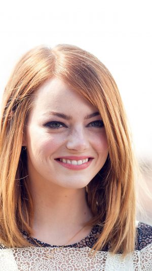 Emma Stone Smile Celebrity Film iPhone 8 wallpaper