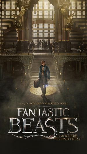 Fantastic Beasts And Where To Find Them Film Illustration Art Poster iPhone 8 wallpaper