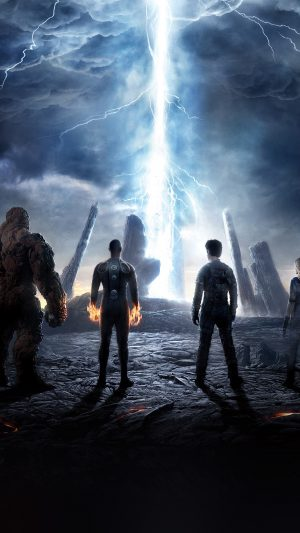 Fantastic Four Movie Poster Action Film iPhone 8 wallpaper