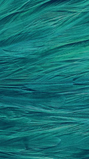 Feather Blue Bird Pattern iPhone 8 wallpaper