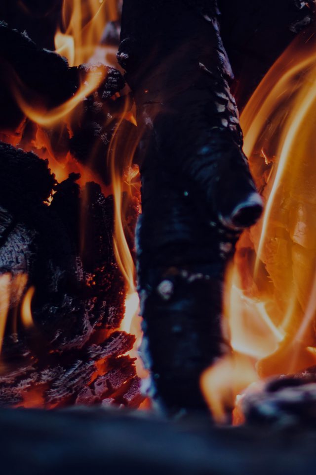 Fire Camp Dark Thomas Lefebvre Nature iPhone wallpaper