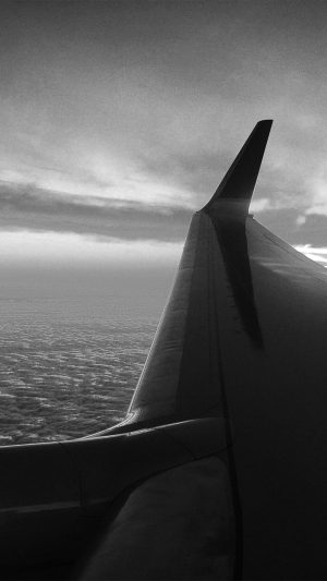 Fly Travel Sunset Red Nature Air Sky Bw Dark iPhone 8 wallpaper