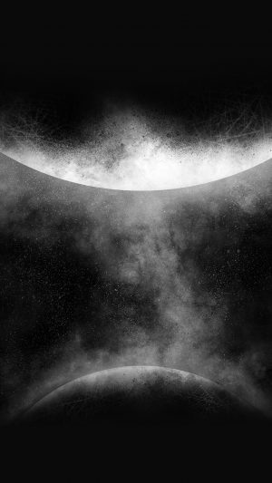Getting Orbit Ios9 Art Illust Space Dark Bw iPhone 8 wallpaper