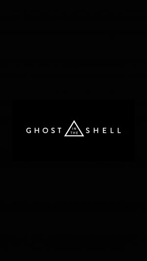 Ghost In The Shell Dark Logo Film Illustration Art iPhone 8 wallpaper