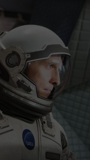 Interstellar Cooper Film Dark Actor Matthew Mcconaughey iPhone 8 wallpaper
