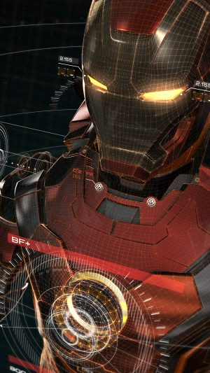 Ironman 3d Red Game Avengers Art Illustration Hero iPhone 8 wallpaper