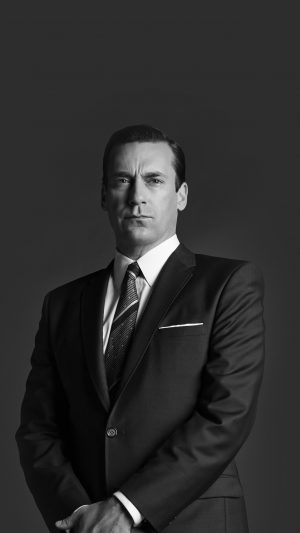 Jon Hamn Mad Men Film Actor Dark Bw iPhone 8 wallpaper