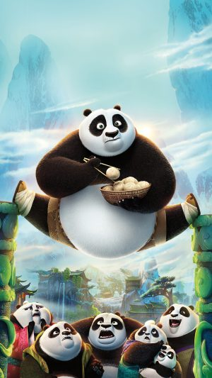 Kungfu Panda Art Illust Film Disney iPhone 8 wallpaper